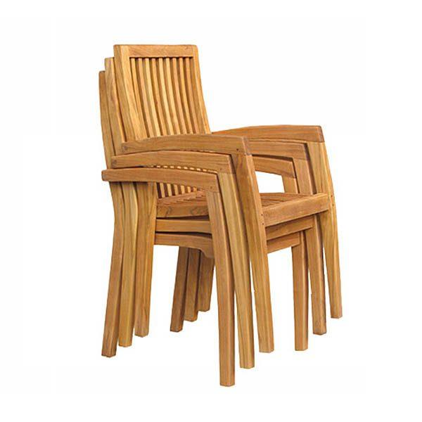 Teak Stacking Armchairs Totst005 Wholesale Outdoor Furniture